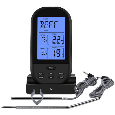 Wireless Meat Thermometer Food Thermometer Barbecue BBQ Grill Smoker Thermometer