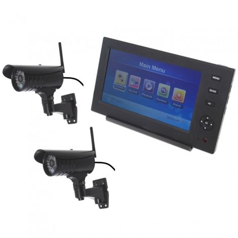 Wireless Network CCTV with 2 x 20 metre Night Vision External Cameras [002-1860]