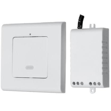 Wireless ON / OFF Lamp Light Wall Switch 1 Way Wireless Remote Control