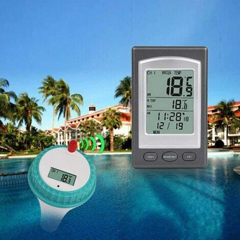 Wireless Pool Thermometer - Digital Floating Pool and Spa Thermometer.