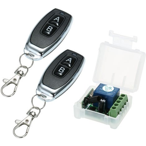Wireless Remote Control Switch, 12V DC, With 2 Remote Controls