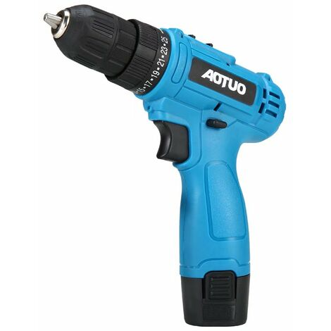 """main image of """"Wireless Screwdriver Drill, Battery 12V Electric Drill, Complete Household Repair Tools, Desktop and Blue Workshop"""""""