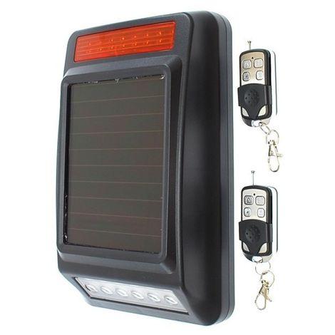 Wireless Siren & Flashing Strobe Light (solar powered) for use with the 900 metre Perimeter Alarm [004-2810]