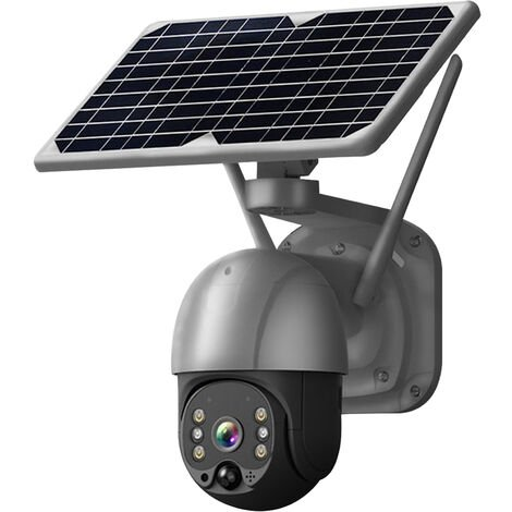 """main image of """"Wireless Solar Panel Security Camera, Wireless Rechargeable Battery Camera 3MP WiFi Home Security Camera with Full Color Night Vision, PIR Human Detection, Two Way Audio, Remote Access, Not Include Battery, Silver,model:Silver"""""""