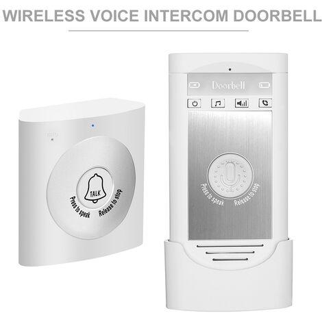 """main image of """"Wireless Voice Intercom Doorbell 2-way Talk Monitor with 1*Outdoor Unit Button 1* Indoor Unit Receiver Smart Home Security Door Bell"""""""