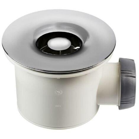 WIRQUIN Bonde de douche Tourbillon - Ø 90 mm - Grille en ABS chrome