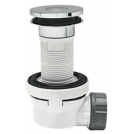 WIRQUIN Bonde de lavabo Xs Pure - Ø 32 x 100 mm - Siphon extra-plat a membrane anti-odeur
