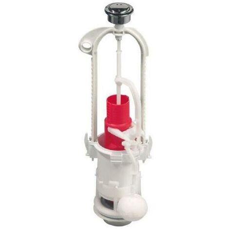WIRQUIN Mécanisme de WC MVB00 - Economie d'eau - Double chasse et a étrier