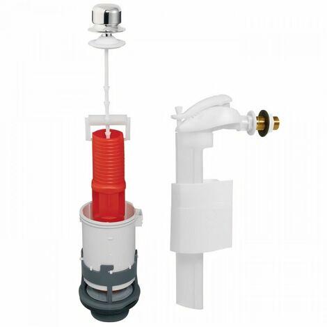 WIRQUIN Mécanisme de WC tirette MX90 + Robinet flotteur latéral F91