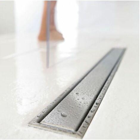 Wirquin sol de la salle de douche wetroom linéaire égoutter en acier inoxydable 800mm
