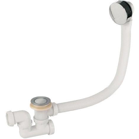 """main image of """"Wirquin SP5603 - Colonna di scarico per vasca da bagno a cavo con sifone, cromata"""""""