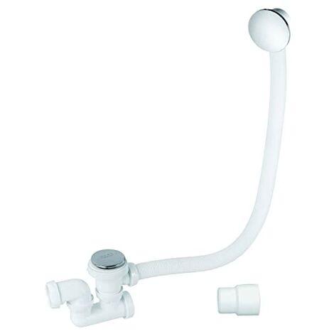 Wirquin SP713299 - Colonna di scarico per vasca da bagno con click clack e troppo pieno, cromato