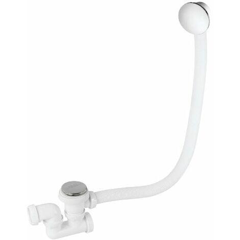 Wirquin SP760299 - Colonna di scarico per vasca da bagno con click clack e troppo pieno, cromata