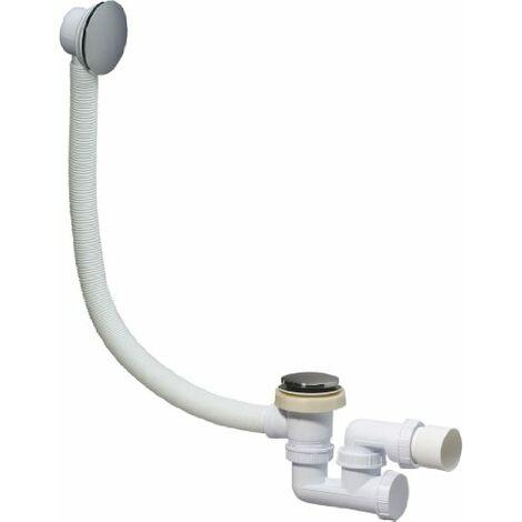 Wirquin SP780399 - Colonna di scarico per vasca da bagno con piletta a chiusura rapida e troppo pieno, cromata