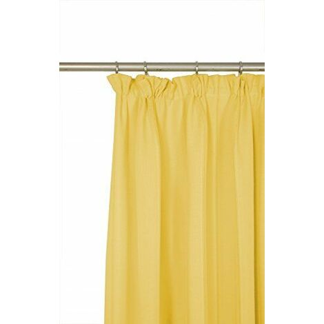 Wirth Rideau Rocher Ted avec galon fronceur, Polyester, jaune, 180x 132cm