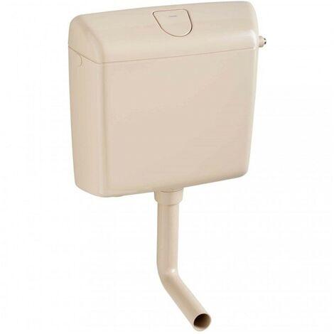 Wisa 1070 WC Spülkasten Aufputz Toilette Spülung 6-9 l Toilettenspülkasten Beige