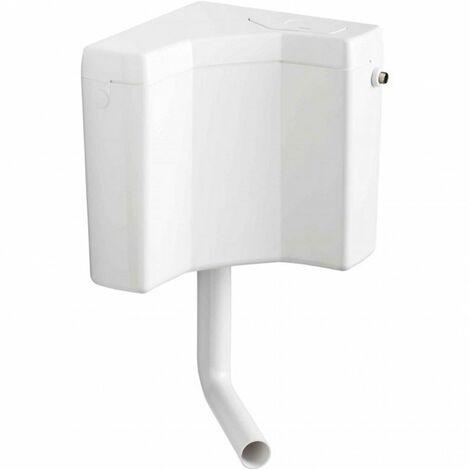 Wisa 770 Aufputz Eckspülkasten Spülkasten Toilettenspülkasten Spülung 6-9 L weiß