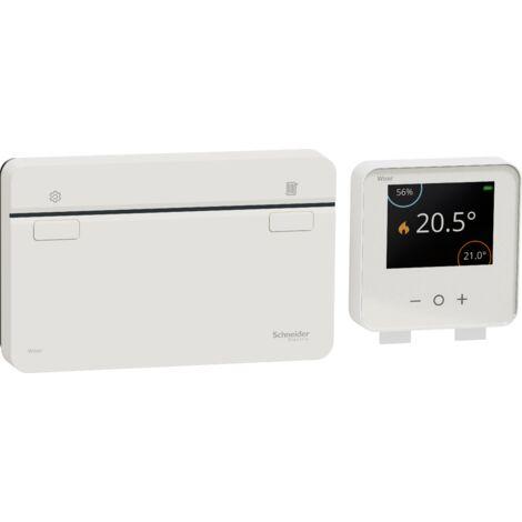 Wiser kit thermostat connecté pour chaudière/pompe à chaleur individuelle, Schneider Electric réf. CCTFR6901