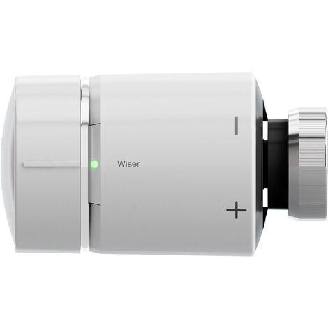 Wiser tête de vanne thermostatique connectée, blanc, Schneider Electric réf. CCTFR61600