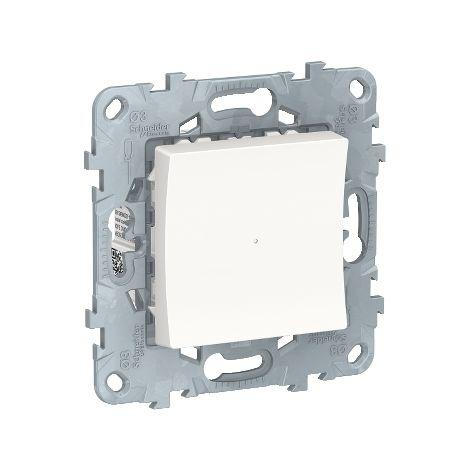 Wiser Unica, bouton-poussoir variateur d'éclairage connecté, Bluetooth, 2 fils, Schneider Electric