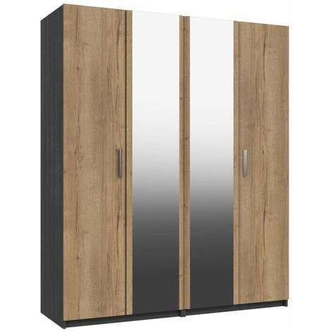 Wister Four Door Mirror Wardrobe