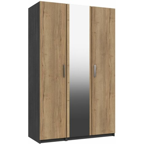 Wister Three Door Mirror Wardrobe