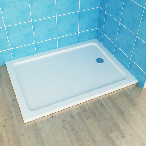 With Drain Shower Base Shower Enclosure Tray Slimline Rectangular Square Acrylic Tray 900x800mm + Free Waste Trap
