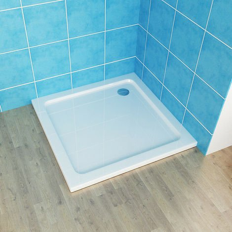 With Drain Shower Base Shower Enclosure Tray Slimline Rectangular Square Acrylic Tray 900x900mm + Free Waste Trap