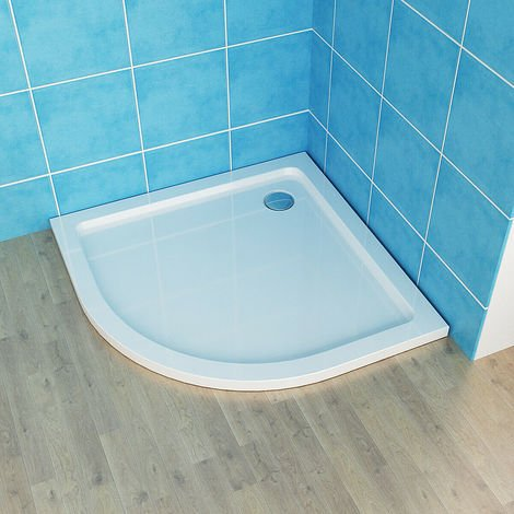 With Drain Shower Base Shower Enclosure Tray Slimline Sector Round Acrylic Tray + Free Waste Trap
