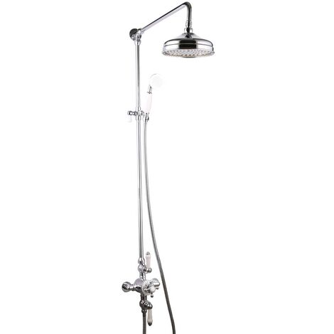 Witham Traditional Exposed Thermostatic Shower Set - By Voda Design
