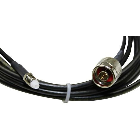 Femelle 10m couleur noir Câble Cordon coaxial Antenne TV Mâle