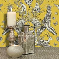 (WL-2001) Menagerie Yellow Wallpaper