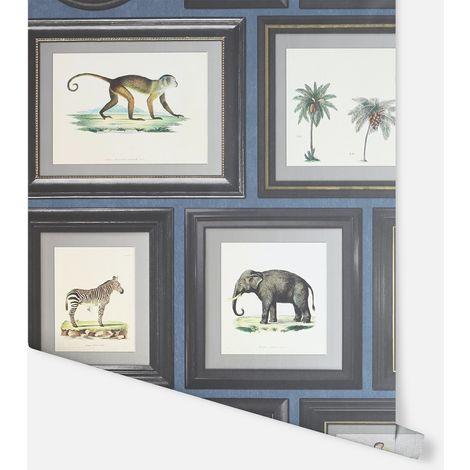 Powder Room Navy Wallpaper - Arthouse - 908405