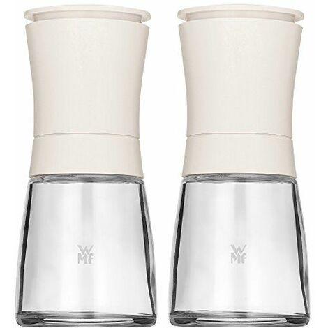 WMF 648139990Ceramill Trend Set de 2pièces blanc de Moulin À pices vide avec broyeur en céramique, Plastique, multicolore, 16,5x 13x 6.3cm 2unités