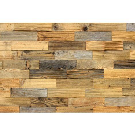 wodewa Wandverkleidung Holz I Altholz Kiefer I Recycling Nachhaltige EchtHolz Wandpaneele I Moderne Wanddekoration
