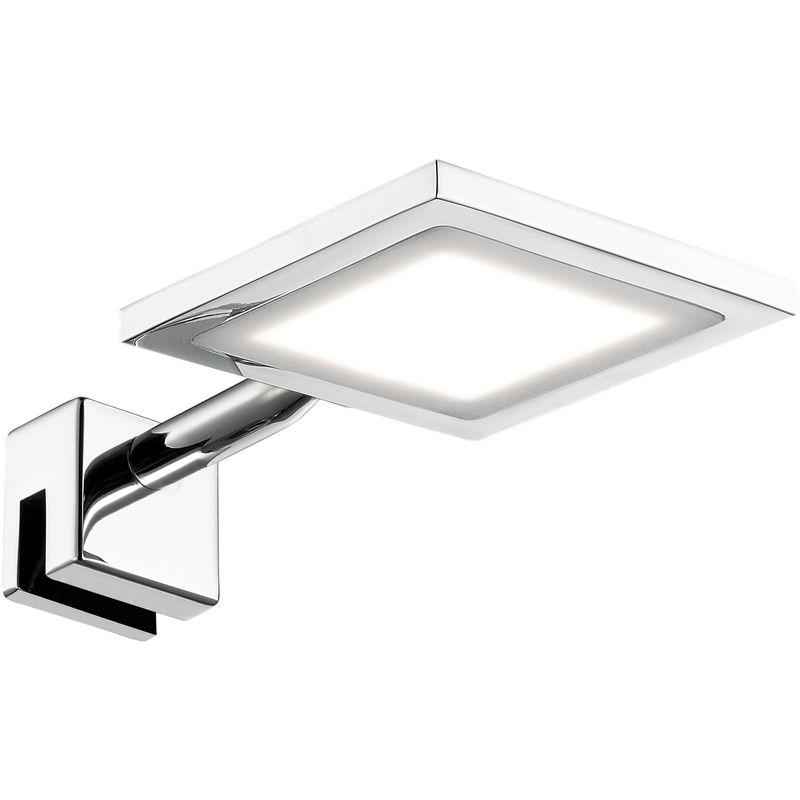 lampada da parete per Spa Line, a 1 luce serie Pax classe di consumo energetico A + protezione IP44, 3000 kelvin, 340 Lumen, 1 x LED/5 W, 10 x 3,4 x