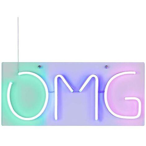 Wofi Lámpara de pared de neón Omg multicolor - Multicolor