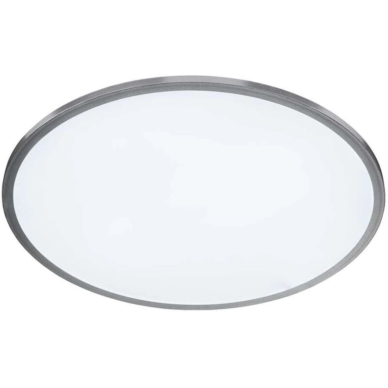 Wofi LED-Deckenleuchte Linox 40x5 cm Silbern