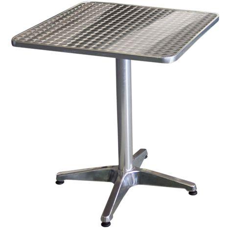 Wohaga Bistrotisch Aluminium 60x60cm 4er Fuss Tischplatte In