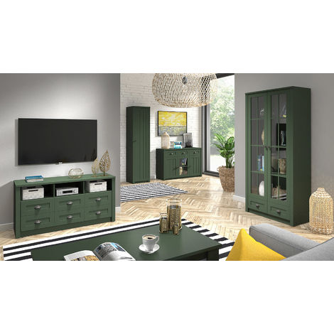 Wohnzimmer Komplett Set A Segnas 5 Teilig Farbe Grun Sg Gl