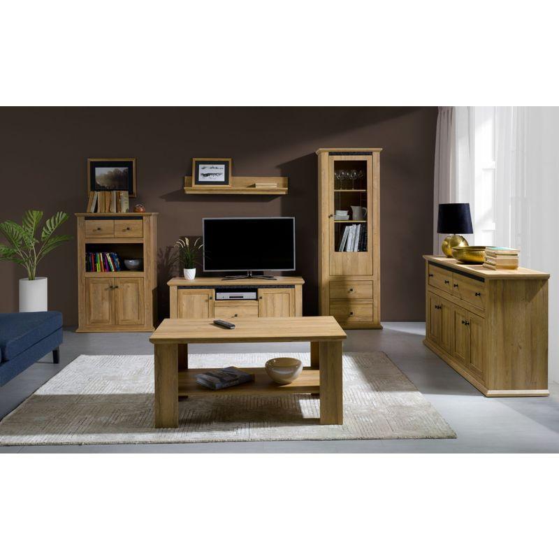 Wohnzimmer Komplett Set Matam 6 Teilig Farbe Eiche Sg Mb Mz