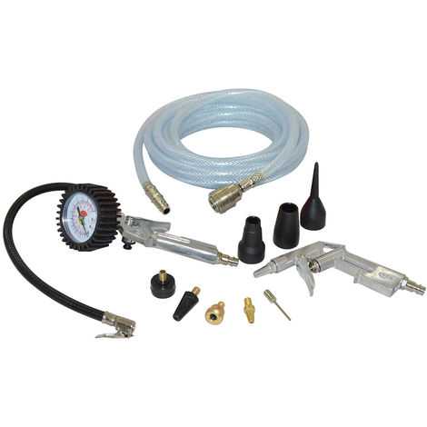 Wolf 11pc Air Tool Inflator Kit with 5m PVC Hose