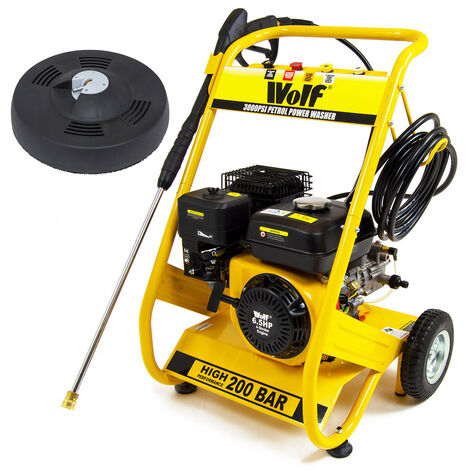 Wolf 200 BAR Petrol Pressure Washer & Patio Cleaner