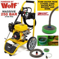 WOLF 250BAR Petrol Power Pressure Washer 7HP 208cc