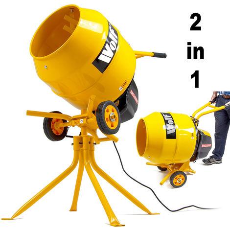 Wolf 550W 135 Litre Concrete Mixer & Stand