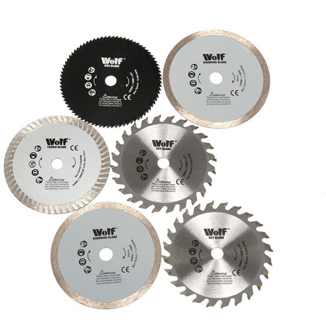 Wolf 6 Spare 89mm Compact Circular Saw Precision Saw Blades