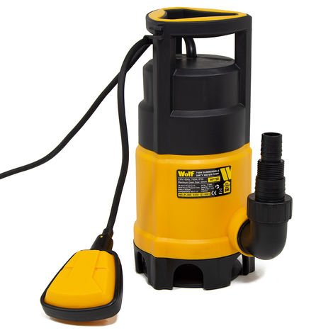 Wolf 750w Dirty & Clean Submersible Water Pump