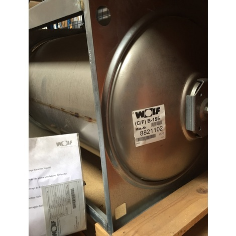 Wolf 8821102 - Ballon d'eau chaude en acier inoxydable - 155 litres