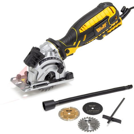 Wolf 89mm Plunge Saw 705w with Sure Grip