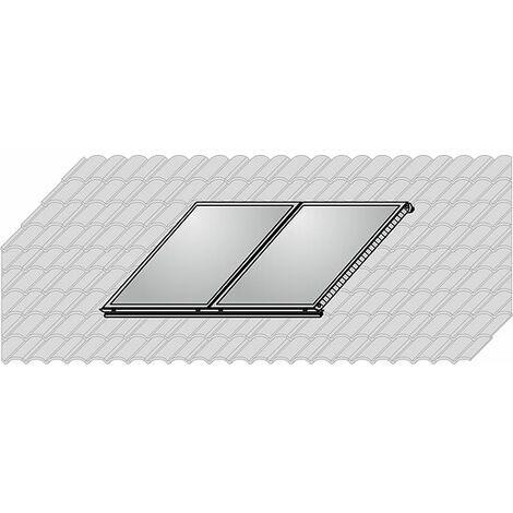 WOLF AluPlus Aufdach-Montage-Set - Falz-Ziegel - für 2 Kollektoren - 7701670